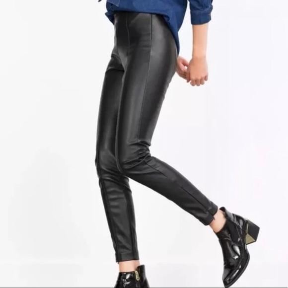 9131aabbf5f2e8 Zara Pants | Trafaluc High Waisted Faux Leather Leggings | Poshmark